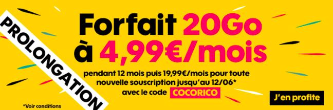 Le forfait mobile 20 Go à 4,99€ de Sosh.