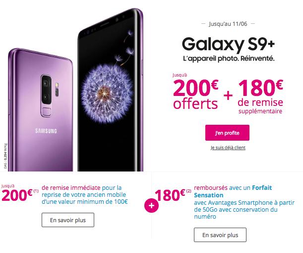 Galaxy S9 avec les offres de Bouygues Télécom.