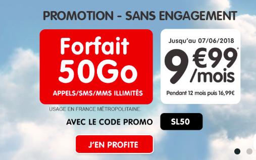 L'offre 50 Go de NRJ Mobile.