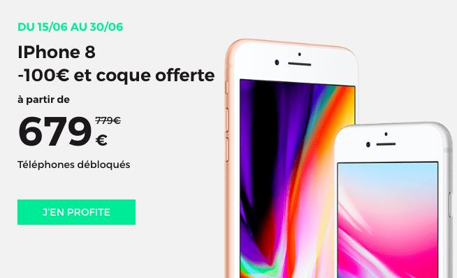 Promotion sur l'iPhone 8 avec RED by SFR.