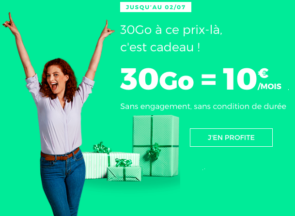 30 Go à 10 euros avec RED by SFR.