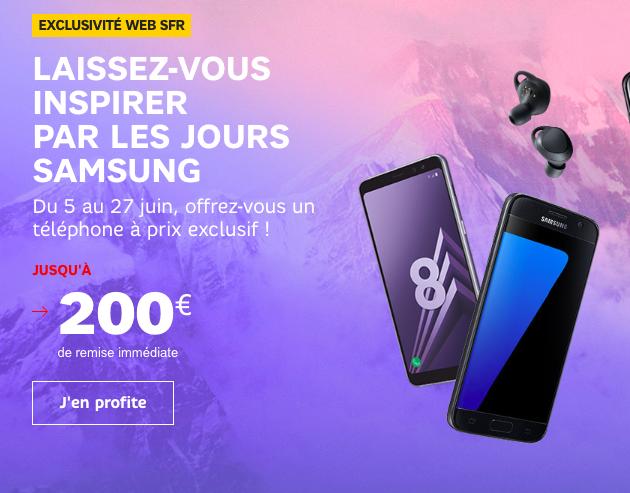 Les jours Samsung de SFR.