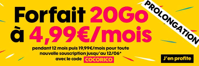 Le forfait Sosh 20 Go.