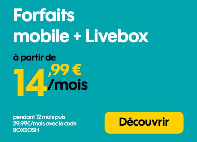 Les offres box et mobile de Sosh.