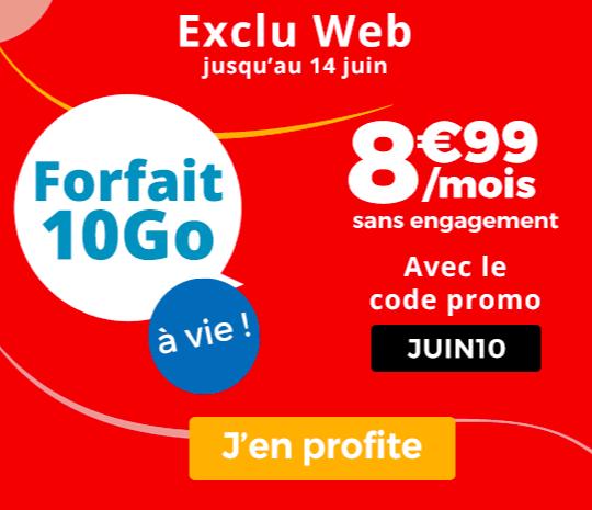 Le forfait mobile de Auchan Telecom en promotion.