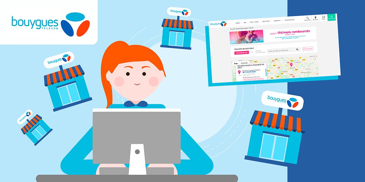 Service client Bouygues Telecom en magasin et sur internet