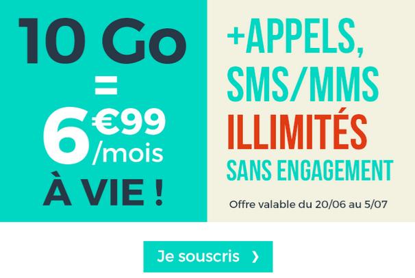 Le forfait mobile de Cdiscount Mobile en promotion.