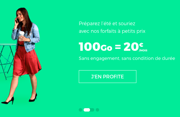 L'abonnement 100 Go de RED by SFR.