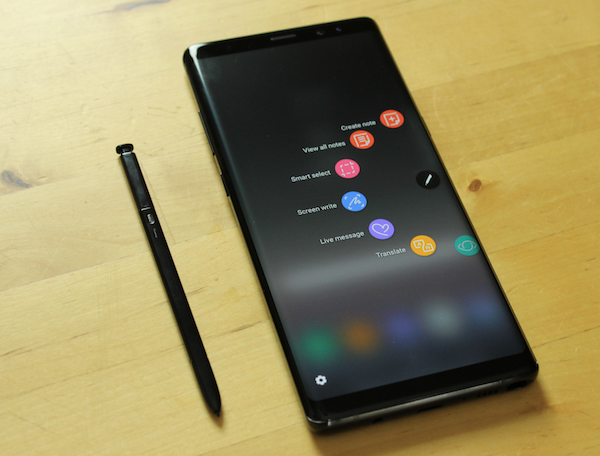 Samsung Galaxy Note9 apparence similaire à Note8