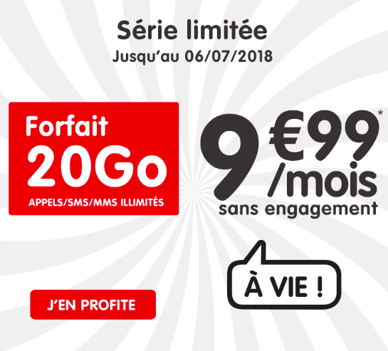 La promotion 20 Go de NRJ Mobile.