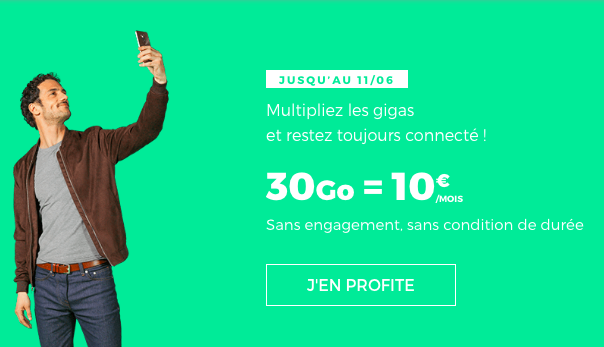 L'offre 30 Go de RED by SFR.