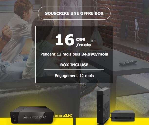 La box de La Poste Mobile.