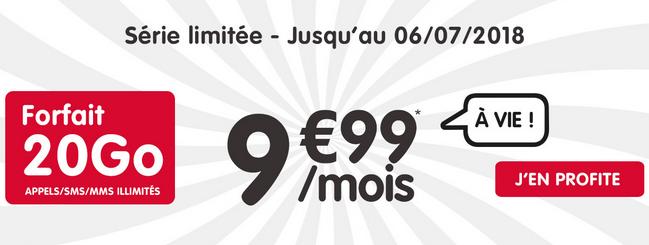20 Go en 4G pour 9,99€/mois avec ce forfait de NRJ mobile.