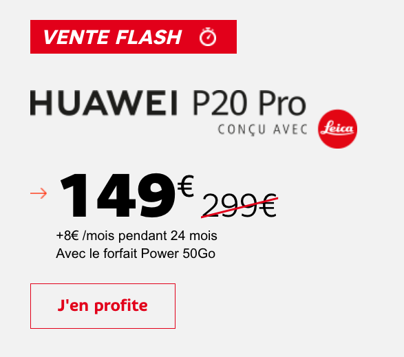 SFR propose une vente flash sur des smartphones Huawei.