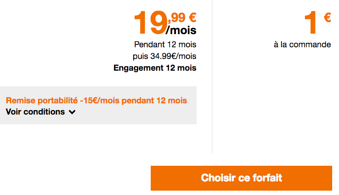 Le forfait mobile Play d'Orange est en promotion.