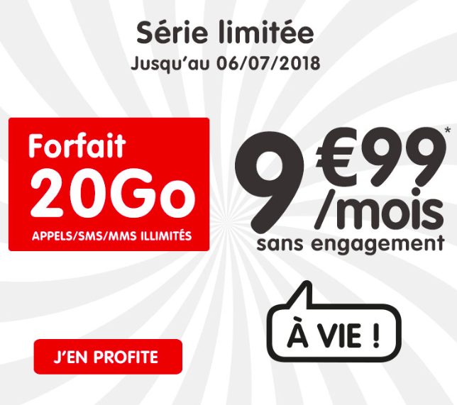 forfait mobile pas cher avec 20 go de data nrj mobile vs sosh. Black Bedroom Furniture Sets. Home Design Ideas
