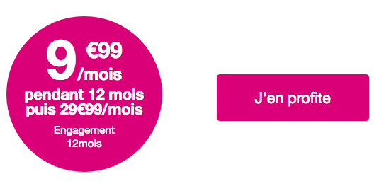 La promotion de Bouygues Telecom sur le forfait Sensation 50 Go.