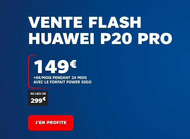 promotion SFR sur le Huawei P20 Pro