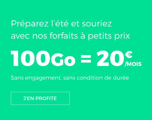 RED by SFR et le forfait mobile doté de 100 Go.