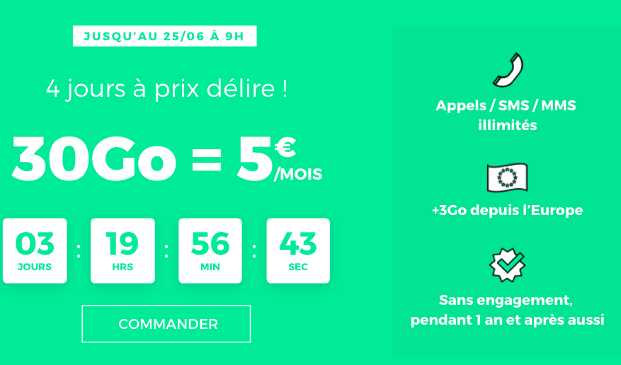 RED by SFR forfait 5€