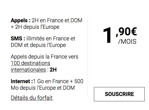 1,90€/mois, c'est le prix de ce forfait mobile de Syma Mobile.
