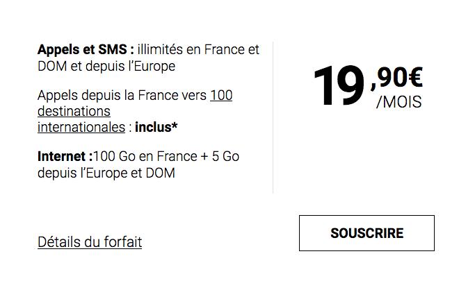 Syma Mobile et son forfait mobile doté de 100 Go.