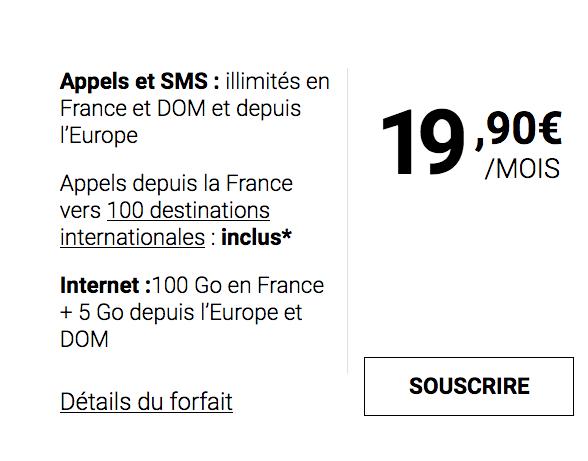 Syma Mobile et son forfait mobile doté de 100 Go d'Internet.