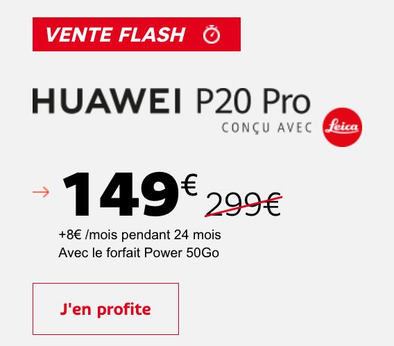 La vente flash de SFR met en avant un Huawei P20 Pro, ainsi que les deux modèles Xperia XZ2 de Sony.