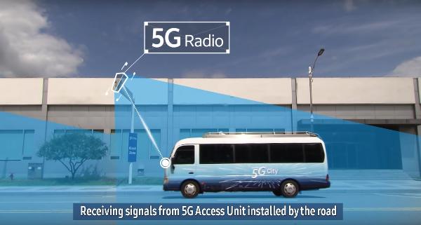 5G kiosk transfert données haut débit
