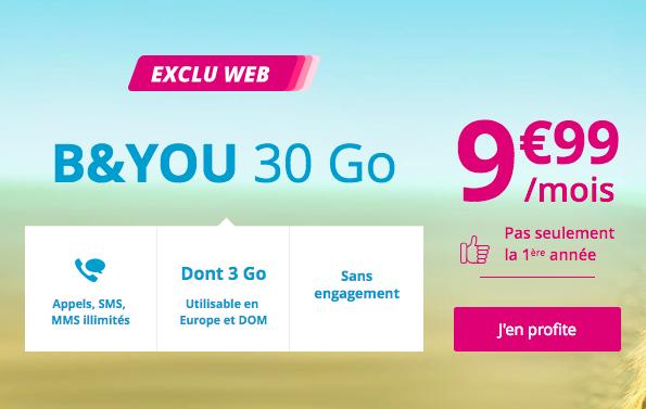L'offre B&YOU 30 Go.