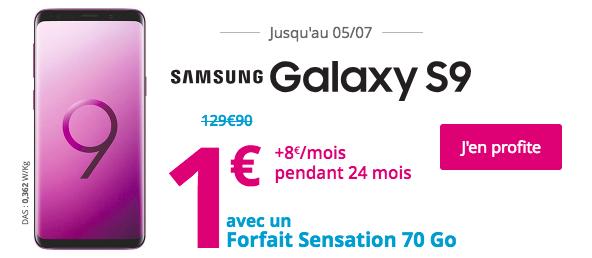 Le prix du Samsung Galaxy S9.