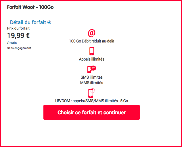 Le forfait 100 Go de NRJ Mobile.