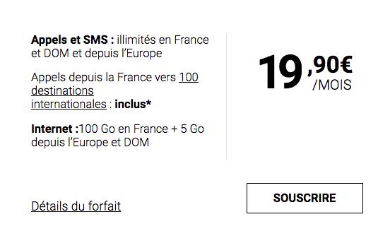 L'offre 100 Go de Syma Mobile.