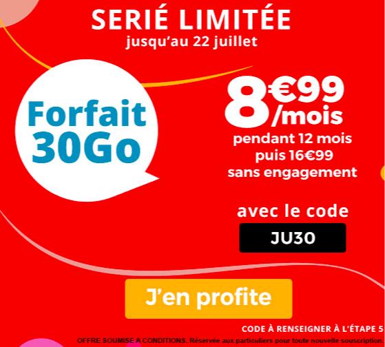 Le forfait Auchan Télécom.