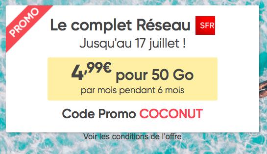 50 Go avec Prixtel pour 4,99€.