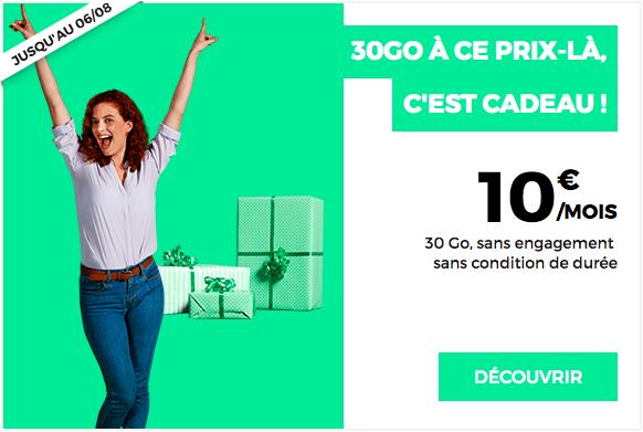 30 Go à 10€ avec RED by SFR.