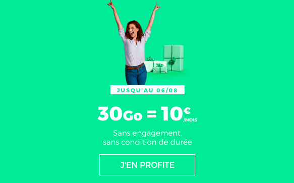 L'abonnement 30 Go à 10€ de RED by SFR.