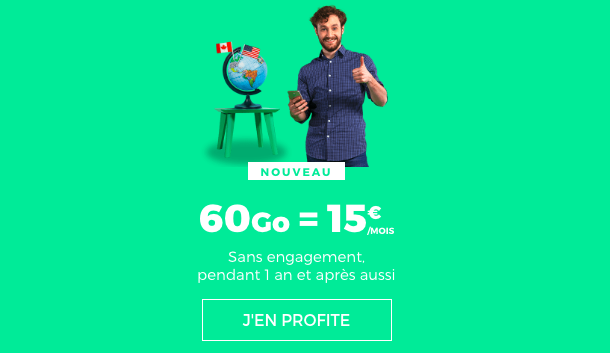 Le forfait 60 Go à 15€ de RED by SFR.