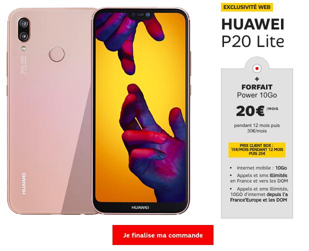 Huawei P20 Lite et forfait SFR 10 Go.