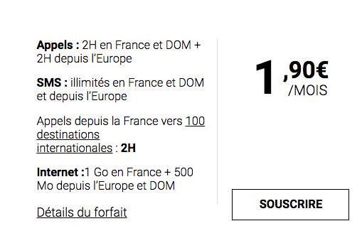 L'offre mobile à 2€ de Syma Mobile.