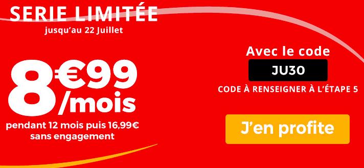la promo sur le forfait 30 Go de Auchan Telecom