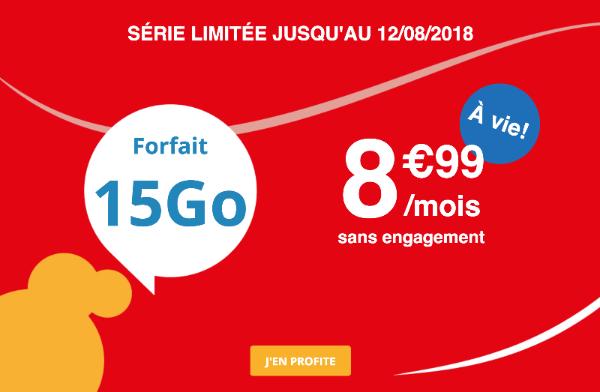 Série limitée Auchan Telecom Forfait 4G pas cher