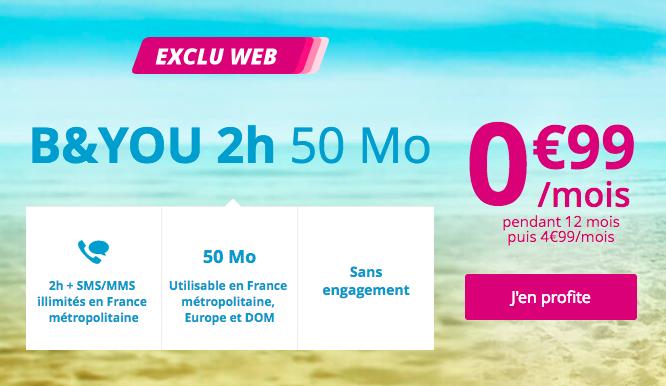 Bouygues Telecom présente un forfait B&YOU en promo