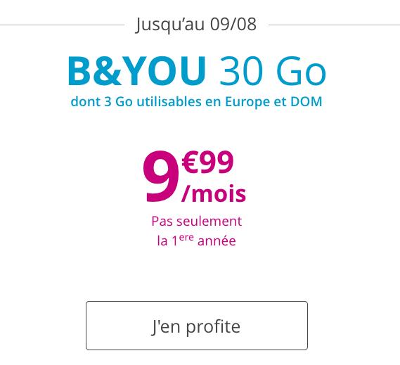 Un bon plan avec ce forfait mobile pas cher proposé par Bouygues Telecom.