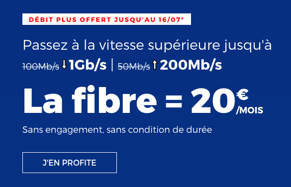 La box internet RED by SFR avec la fibre optique