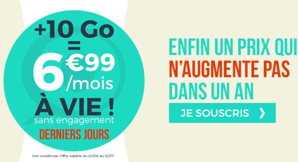 Cdiscount Mobile 6,99€/mois à vie 10 Go