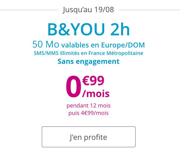 Le forfait mobile de Bouygues Télécom à bas prix.