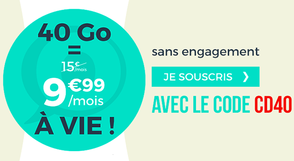40 Go à 9,99€ avec Cdiscount Mobile.