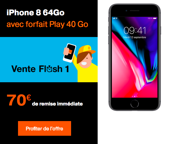 70€ de remise immédiate sur l'iPhone 8.