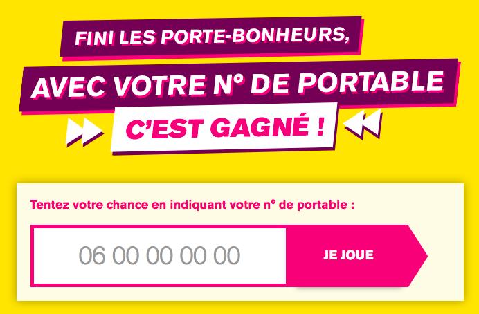 Jeu concours de La Poste Mobile.